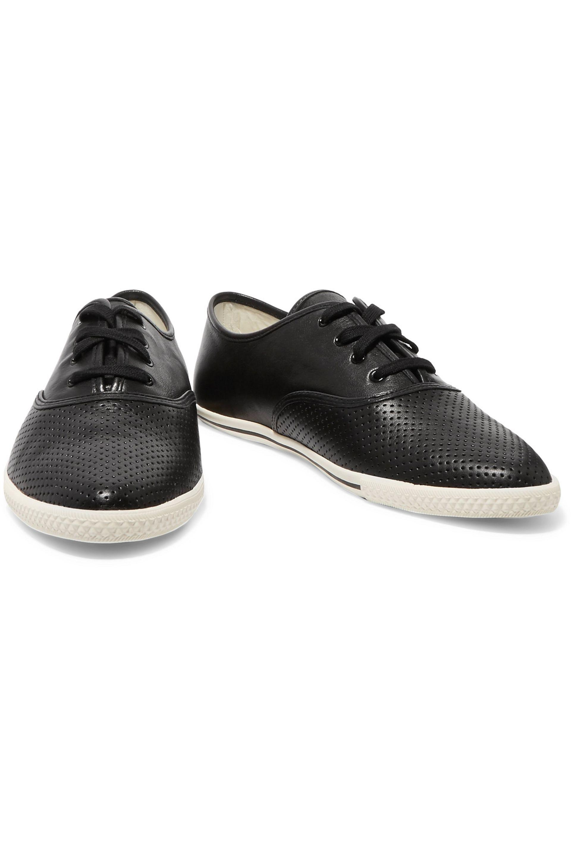 Marc By Marc Jacobs Carter Perforated Leather Sneakers Black
