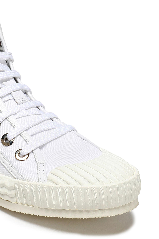 Choo Femme Toile Jimmy Berlin Et Cuir Embossé Chaussures De Sport De Haute-top Blanc Taille 41 Choo London Jimmy oXQCsHAqxY