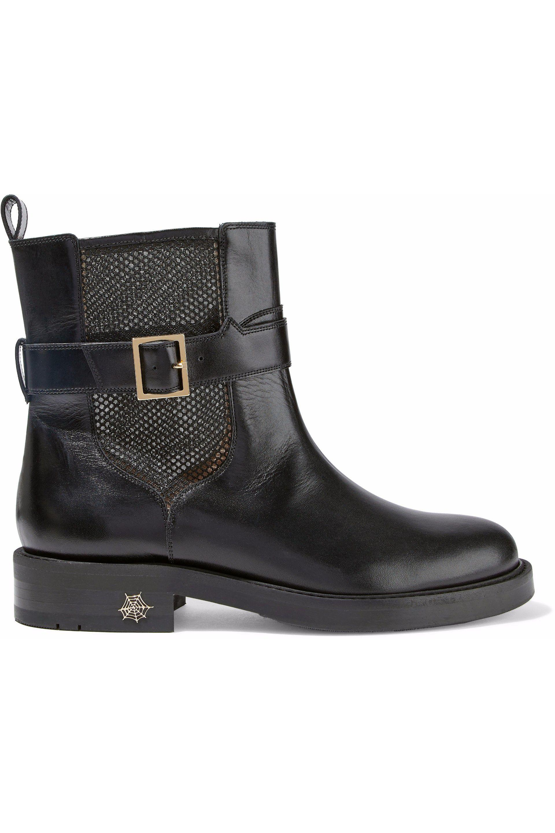 Charlotte Olympia Leather Buckled Boots