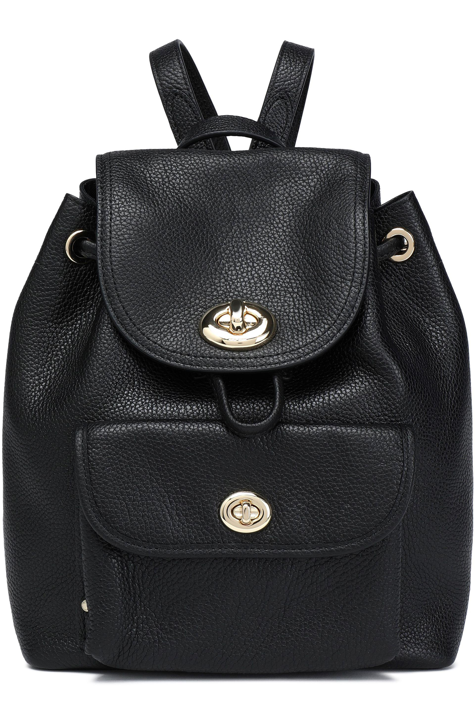 828d57a75c3d ... czech coach black and white leather backpack 64585 7ef20