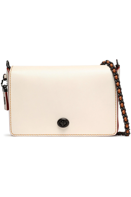 1b860ec0265b Coach Leather Shoulder Bag in White - Lyst