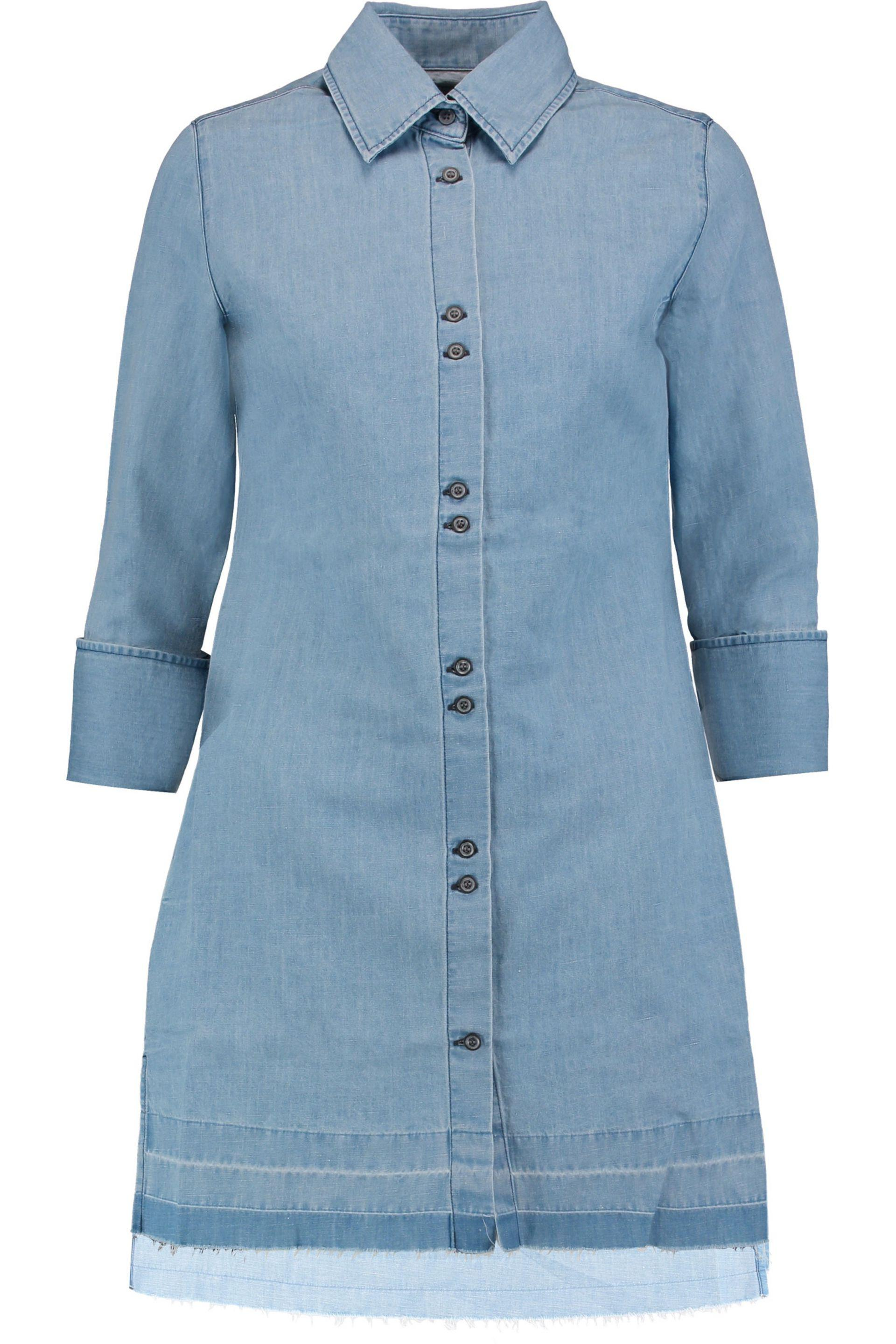 df78953a9f Lyst - J Brand Bacall Denim Mini Shirt Dress Light Denim in Blue