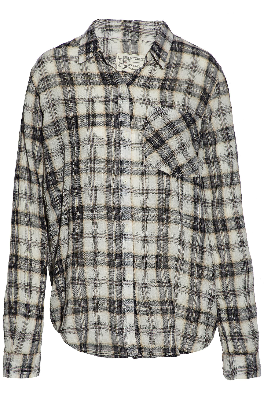 Robert Rodriguez Woman Checked Cotton-blend Flannel Shirt Gray Size L Robert Rodriguez Clearance Best Wholesale Cheap Official Outlet Store Cheap Online jKxQSRhvF