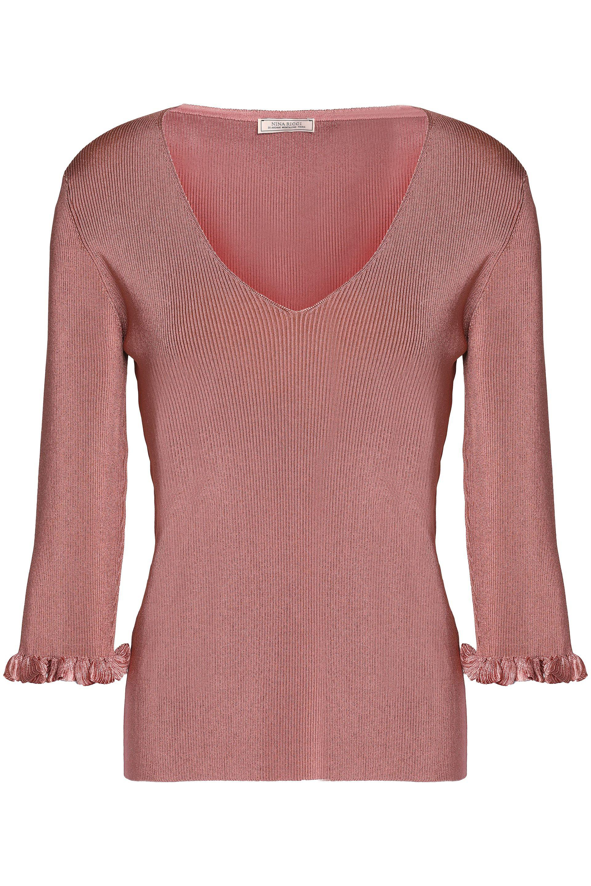Official Cheap Online Nina Ricci Woman Chain-embellished Two-tone Knitted Top Antique Rose Size S Nina Ricci Buy Cheap Clearance Outlet Brand New Unisex Cheap Usa Stockist Lowest Price KDHg3zV
