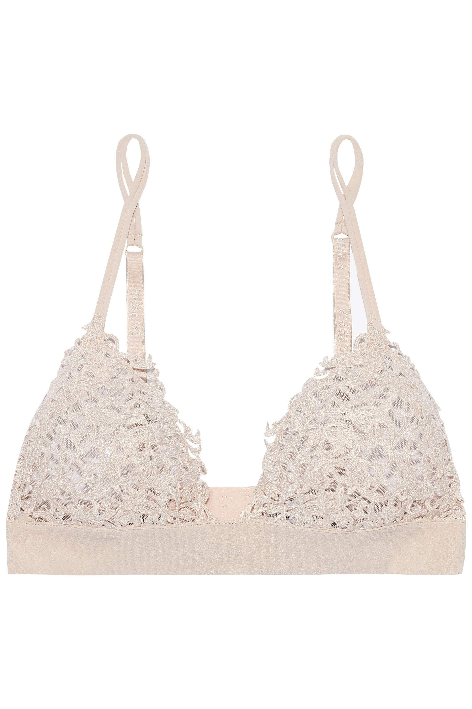 04bc4de3a3 Lyst - La Perla Silk-blend Embroidered Tulle Soft-cup Triangle Bra