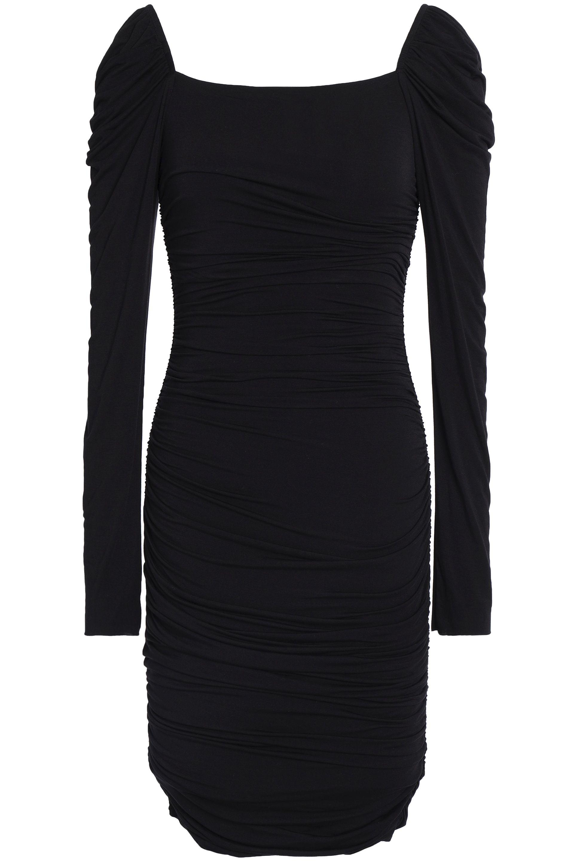 7ff6ca834a5 Lyst - Bailey 44 Woman Ruched Stretch-modal Jersey Mini Dress Black ...