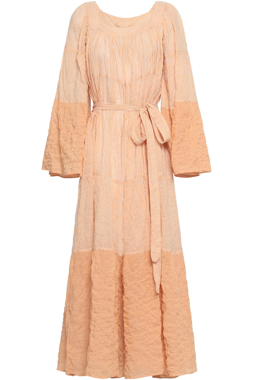 14550cb84de Lisa Marie Fernandez Woman Striped Cotton-blend Seersucker Coverup ...