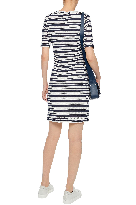 Splendid Woman Lace-up Striped Pointelle And Stretch-knit Mini Dress Ecru Size M Splendid For Sale Very Cheap vzizsHccdy