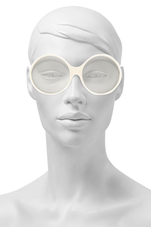 Laurent Saint Gold Style Ivory Sunglasses Acetate White Aviator Tone kXZNn0w8OP