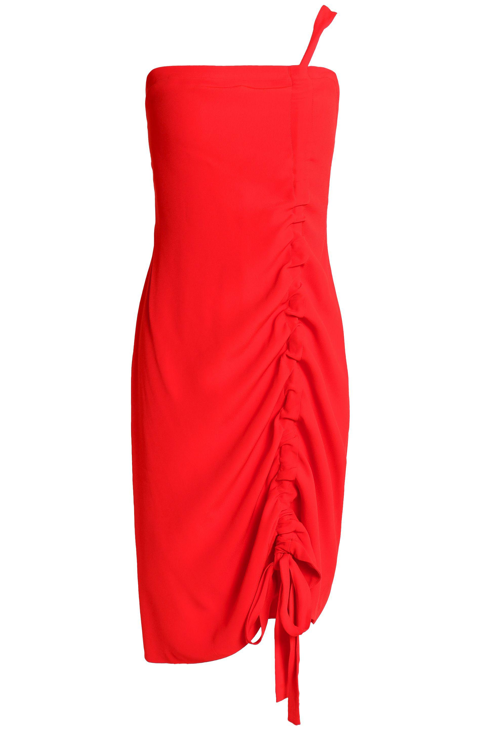 Alexis Woman Staz One-shoulder Ruched Crepe Mini Dress Red Size L Alexis Outlet Low Price Sale Good Selling Choice Cheap Price Free Shipping Get To Buy Discount Q5JS3bXs