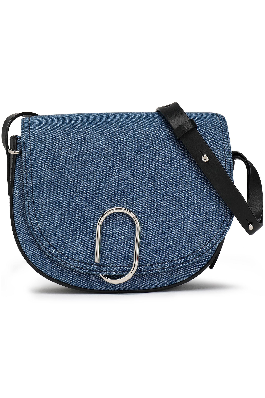 3.1 Phillip Lim Woman Leather-trimmed Denim Shoulder Bag Mid Denim Size 3.1 Phillip Lim nrJ47TurZH