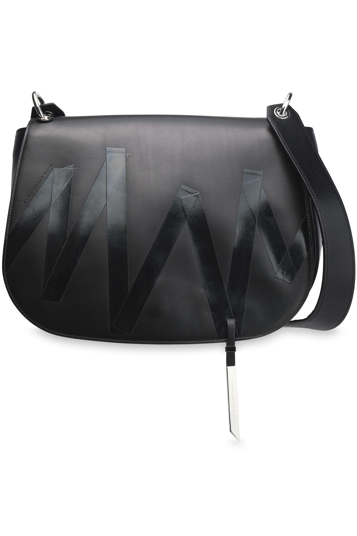 f3ea47af98 Christopher Kane Printed Leather Shoulder Bag in Black - Lyst