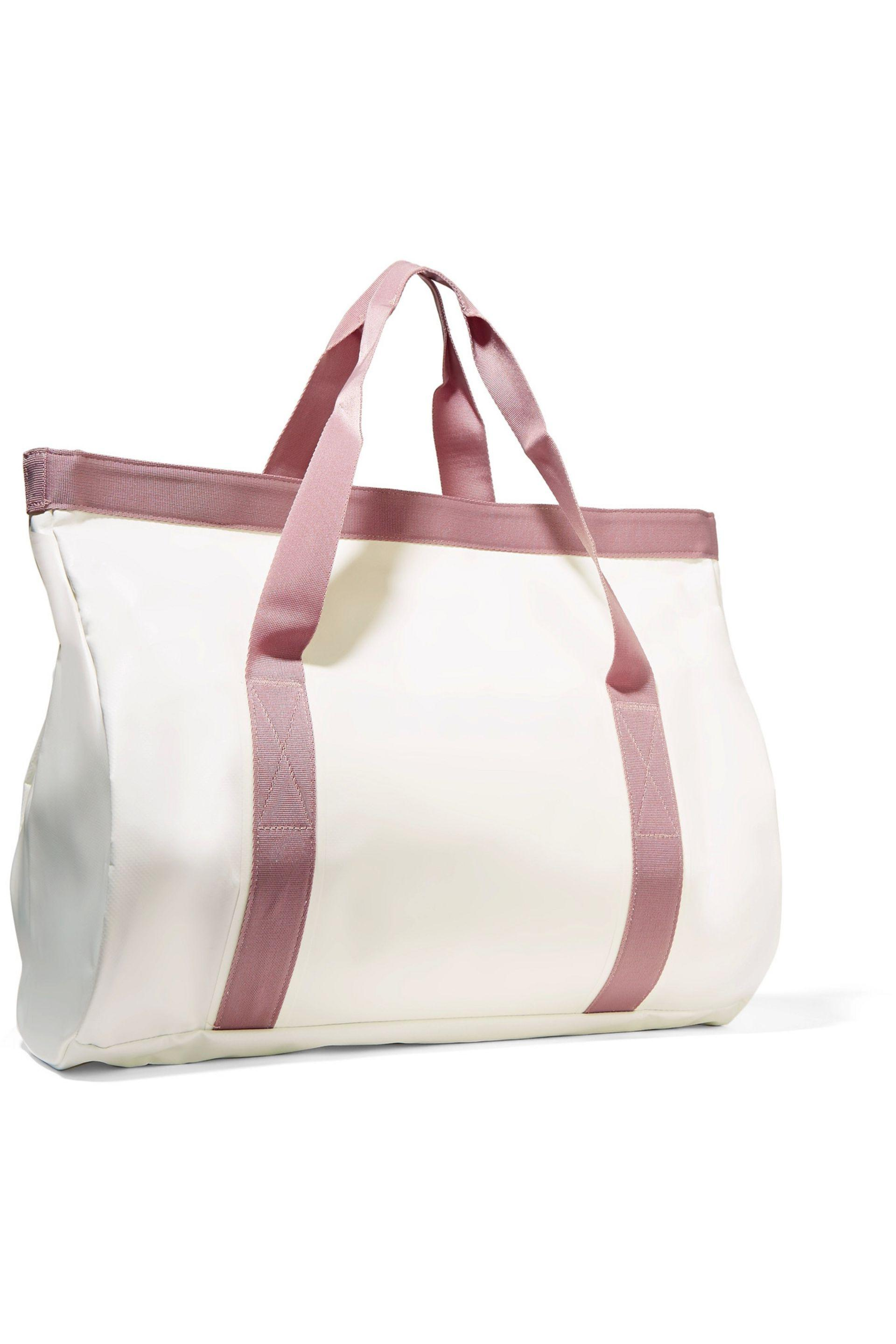 adidas By Stella McCartney Canvas-trimmed Coated-pvc Swim Tote in White