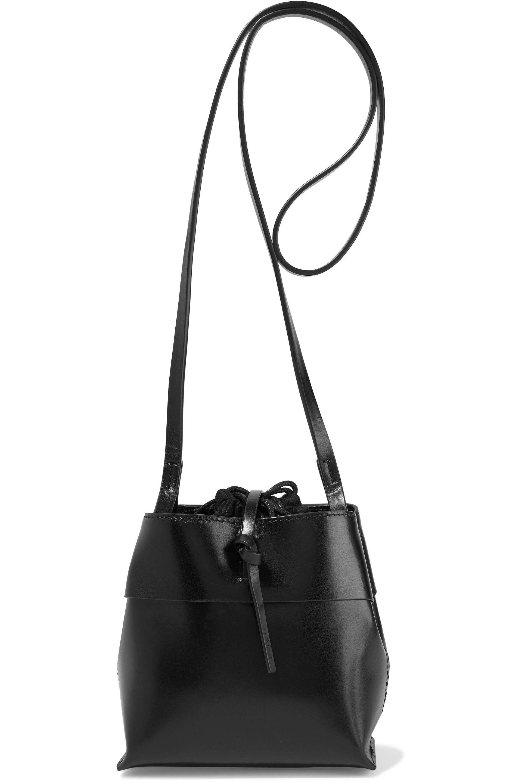c00f496d0d94 Kara Woman Nano Tie Glossed-leather Shoulder Bag Black in Black - Lyst