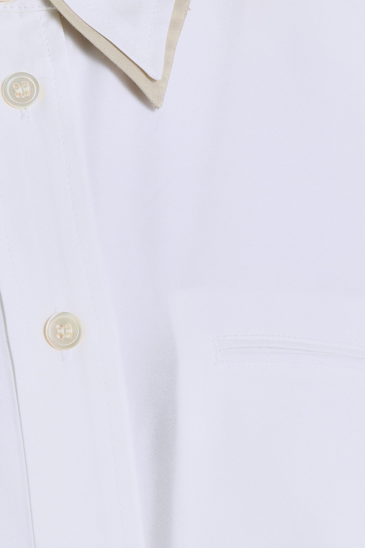 J Brand Woman Blake Oversized Satin Shirt White