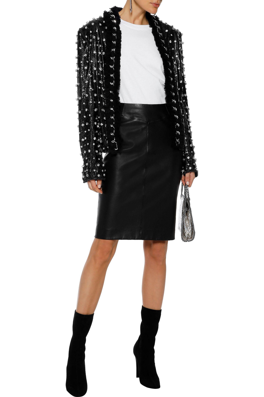142dd8b0847 Balmain - Woman Chain-trimmed Crystal-embellished Mesh Jacket Black - Lyst.  View fullscreen