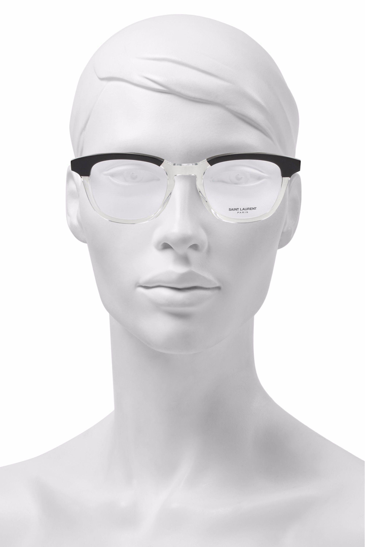 db7bab555e6 Saint Laurent D-frame Two-tone Acetate Optical Glasses in Black - Lyst