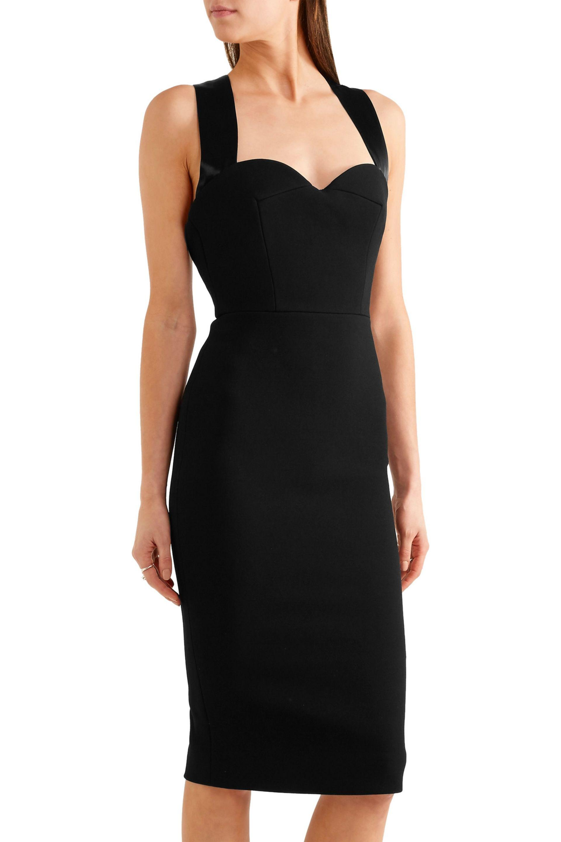 High Quality For Sale Satin-trimmed dress Victoria Beckham Purchase Online Sale Order For Sale Footlocker Free Shipping Manchester Great Sale GM6oNuhY