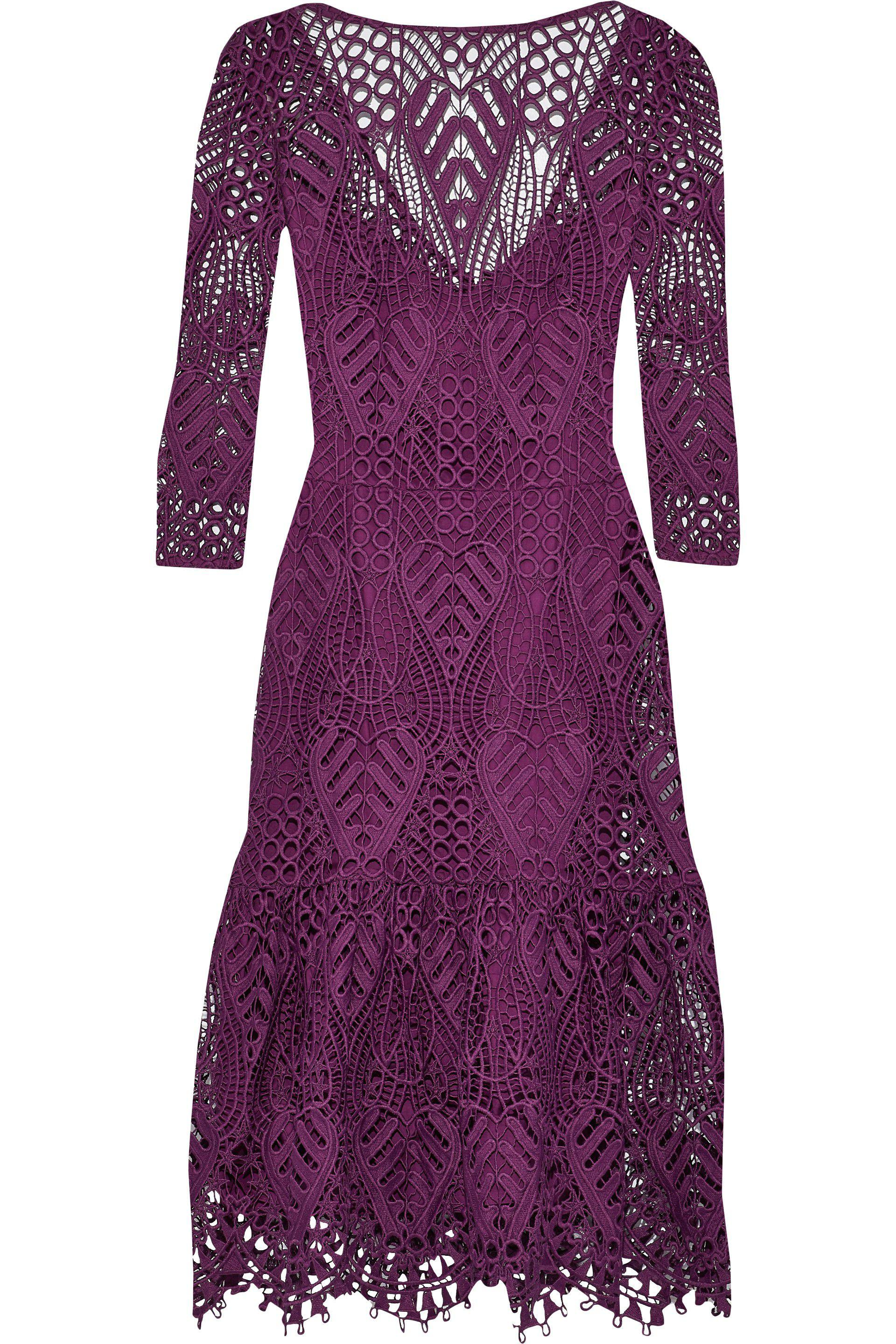 Temperley London Woman New Moon Guipure Lace Dress White Size 10 Temperley London 0ZZPsD1