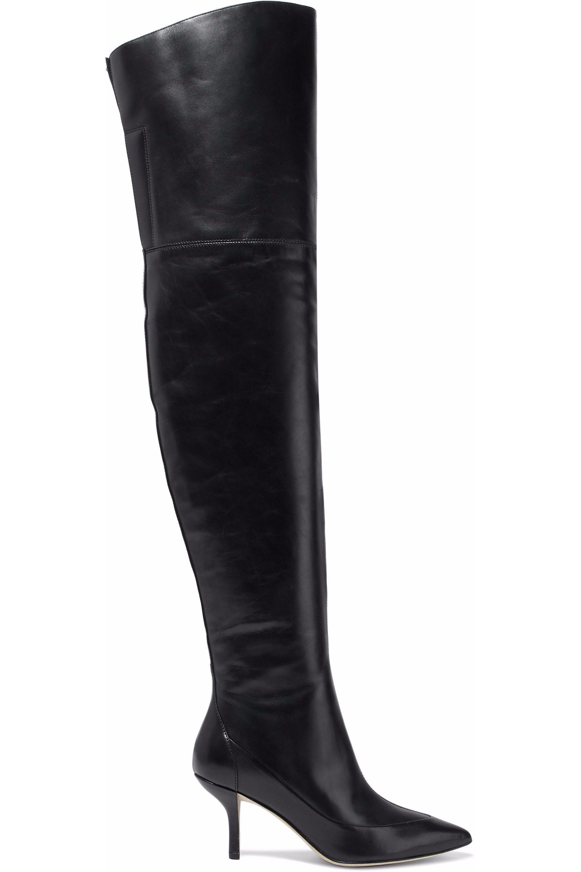 Diane von Furstenberg Leather Knee Boots discount clearance eKura