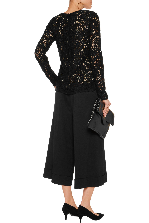 Goen.J Stretch-wool Twill Culottes in Black