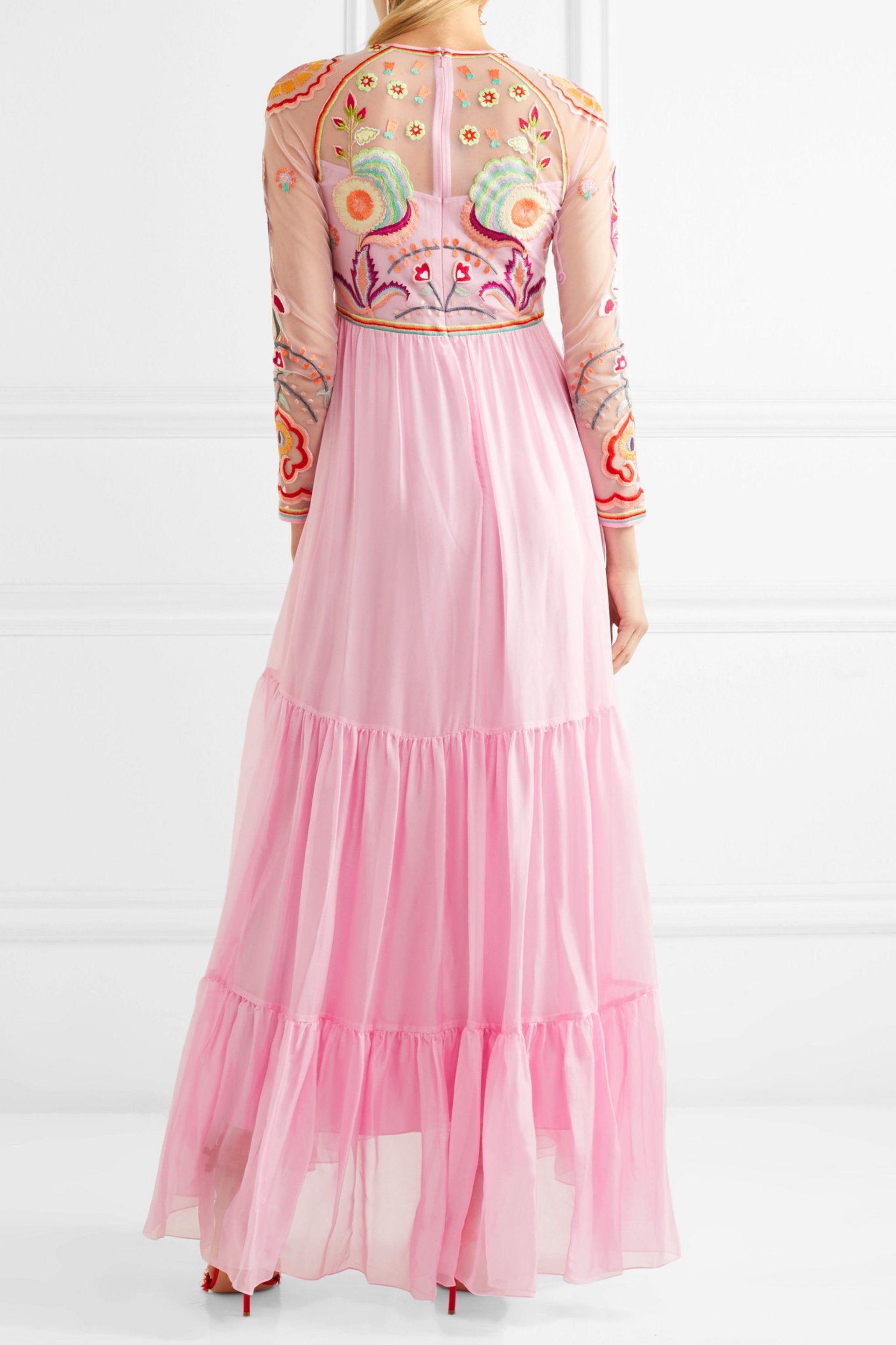 Temperley London Chimera Embroidered Tulle And Silk Blend