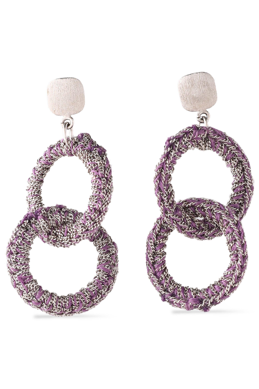 Carolina Bucci Woman 18-karat Gold And Cord Tasseled Earrings Black Size ONESIZE Carolina Bucci Low Shipping Fee For Sale apW9bvVQ