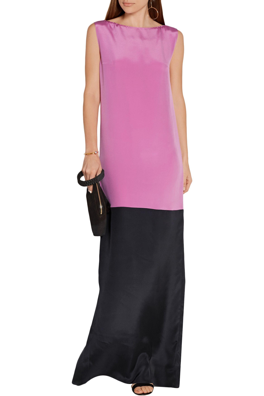 Roksanda - Pink Two-tone Silk-blend Crepe De Chine Gown - Lyst. View  Fullscreen