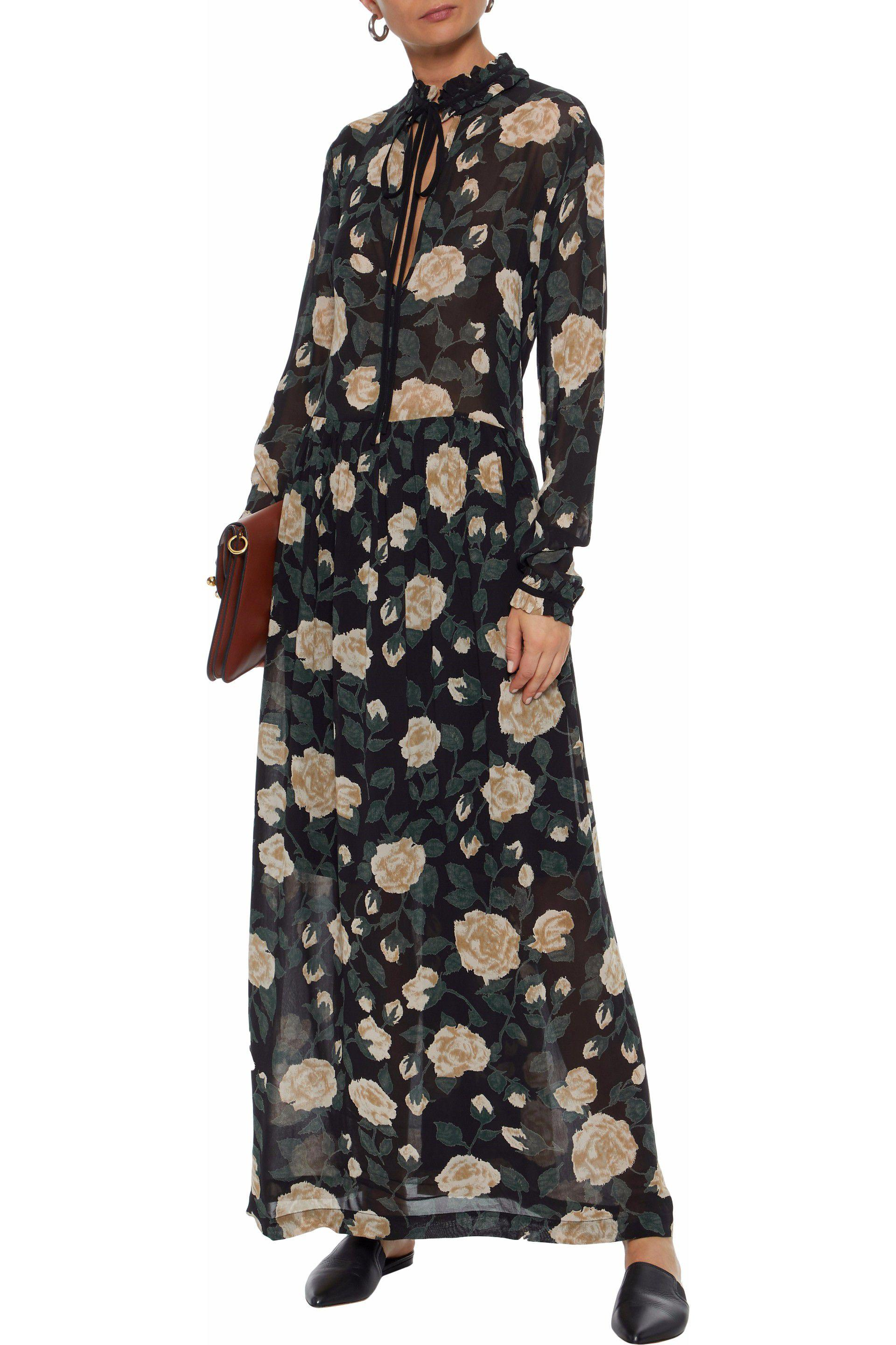 6e34494b7eae3 ganni-Black-Carlton-Floral-print-Georgette-Maxi-Dress.jpeg