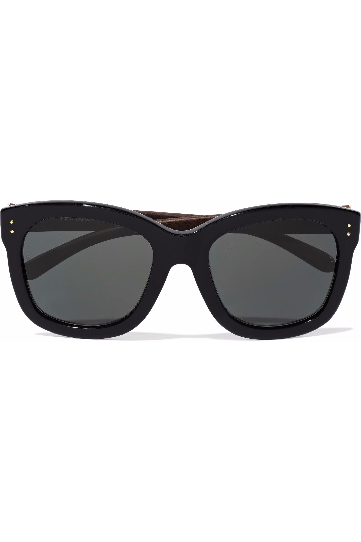 60a7a719e0f4 Lyst - Linda Farrow Square-frame Acetate Sunglasses in Black