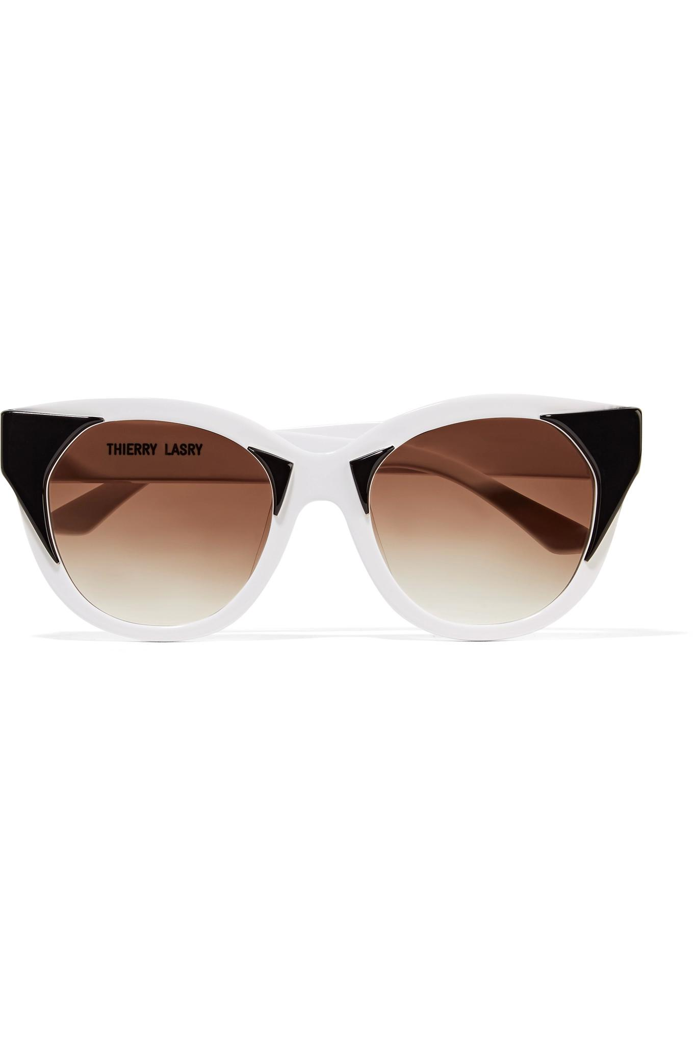 Choky Cat-eye Acetate And Gold-tone Sunglasses - White Thierry Lasry oVJTF1E