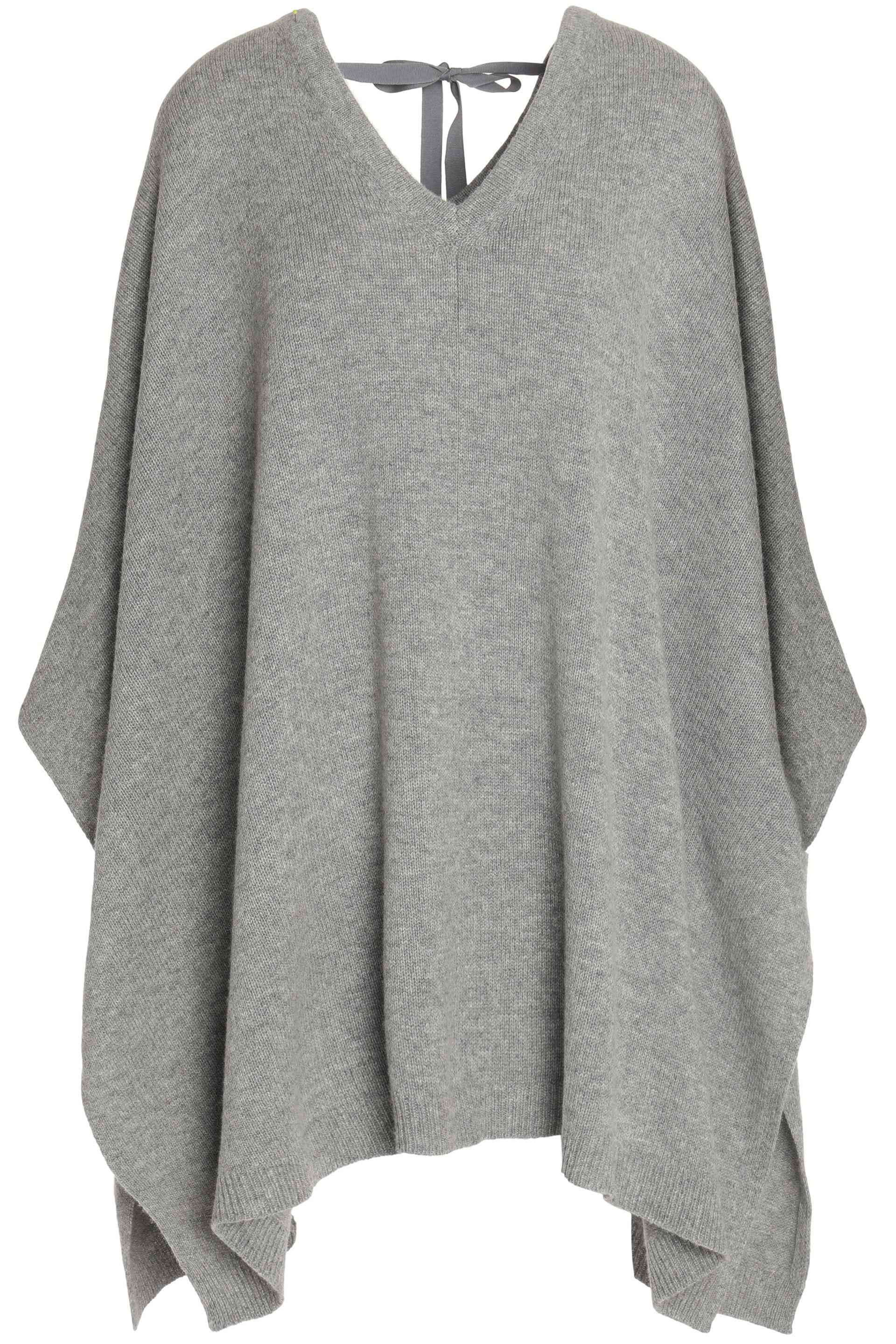 66d3923c266 Theory Wool And Cashmere-blend Poncho Light Gray in Gray - Lyst