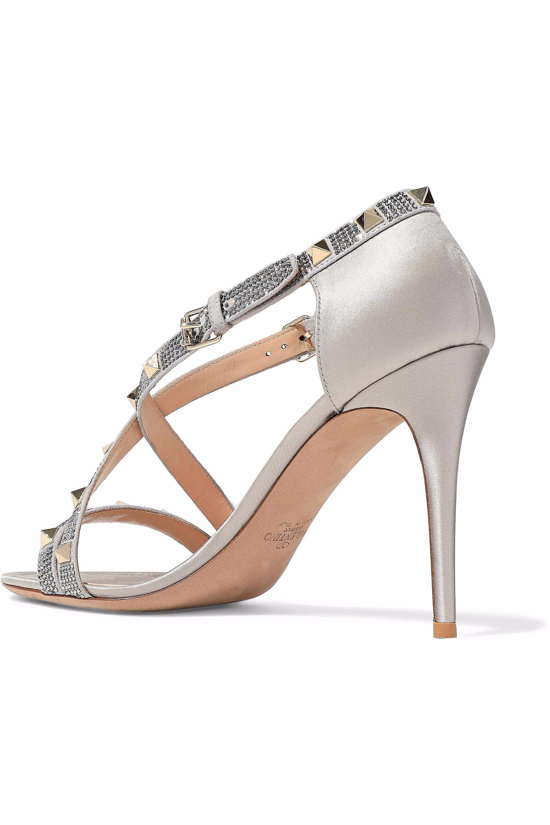 Satin sandals with crystals Valentino 7UD9AJK5n
