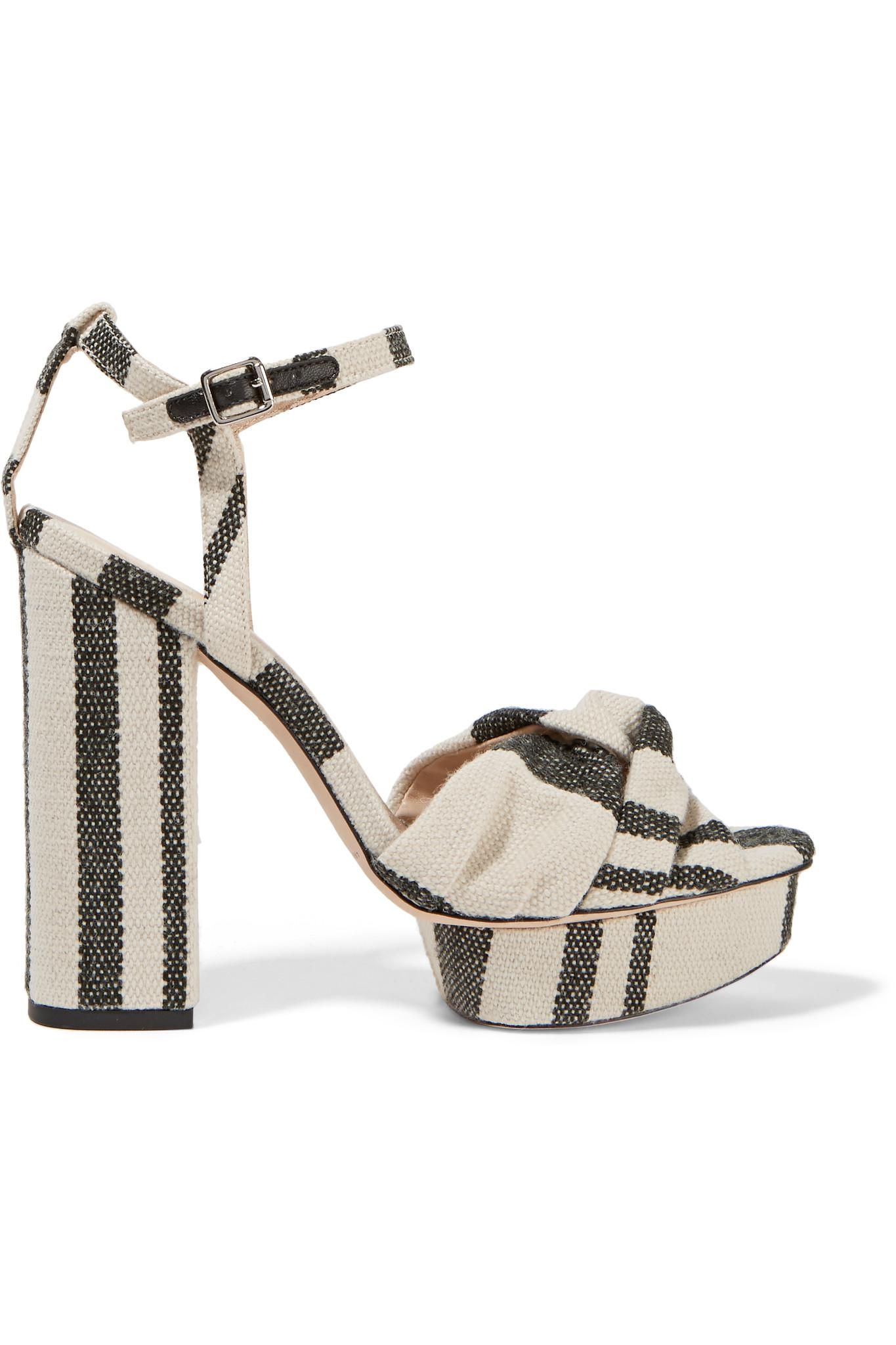 65d6a1775cb2 Lyst - Loeffler Randall Arbella Twist-front Canvas Sandals in White
