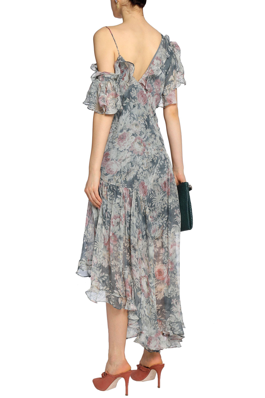 Zimmermann Woman Cavalier Asymmetric Floral Print Silk