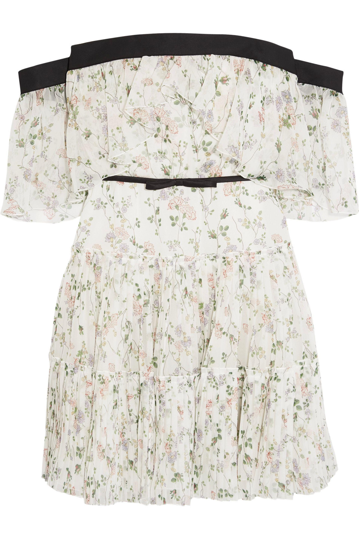 00fa5780a5 Lyst - Giambattista Valli Off-the-shoulder Ruffled Floral-print Silk ...