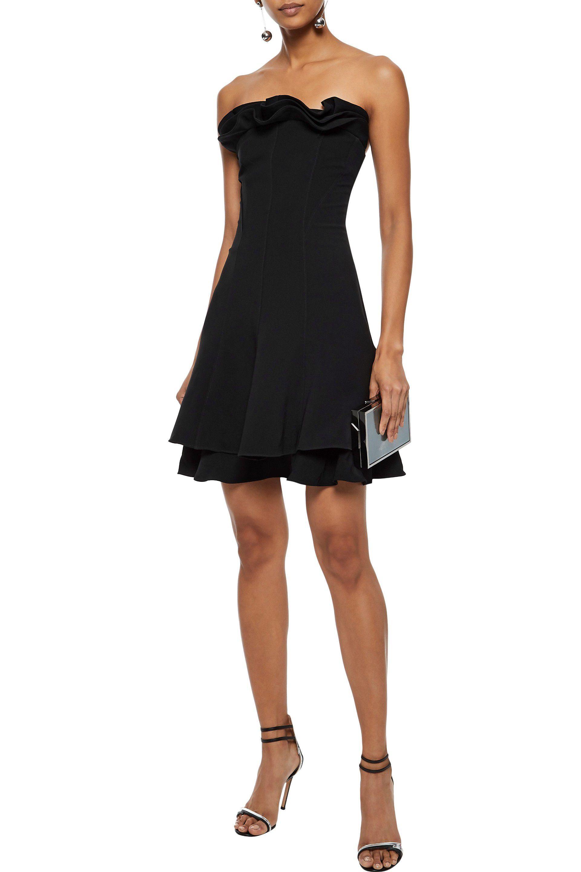 6865adb91e38 Lyst - Cinq À Sept Woman Tansy Strapless Ruffled Crepe Mini Dress ...