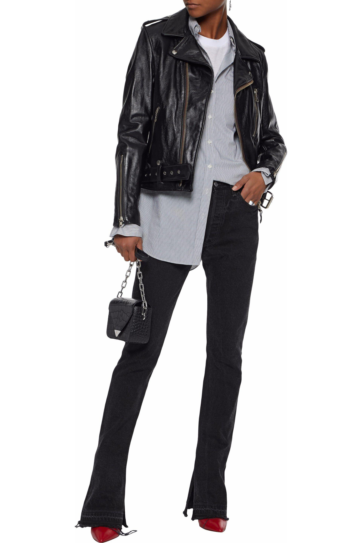 085de9474 Rag & Bone Schott Embellished Leather Biker Jacket in Black - Lyst