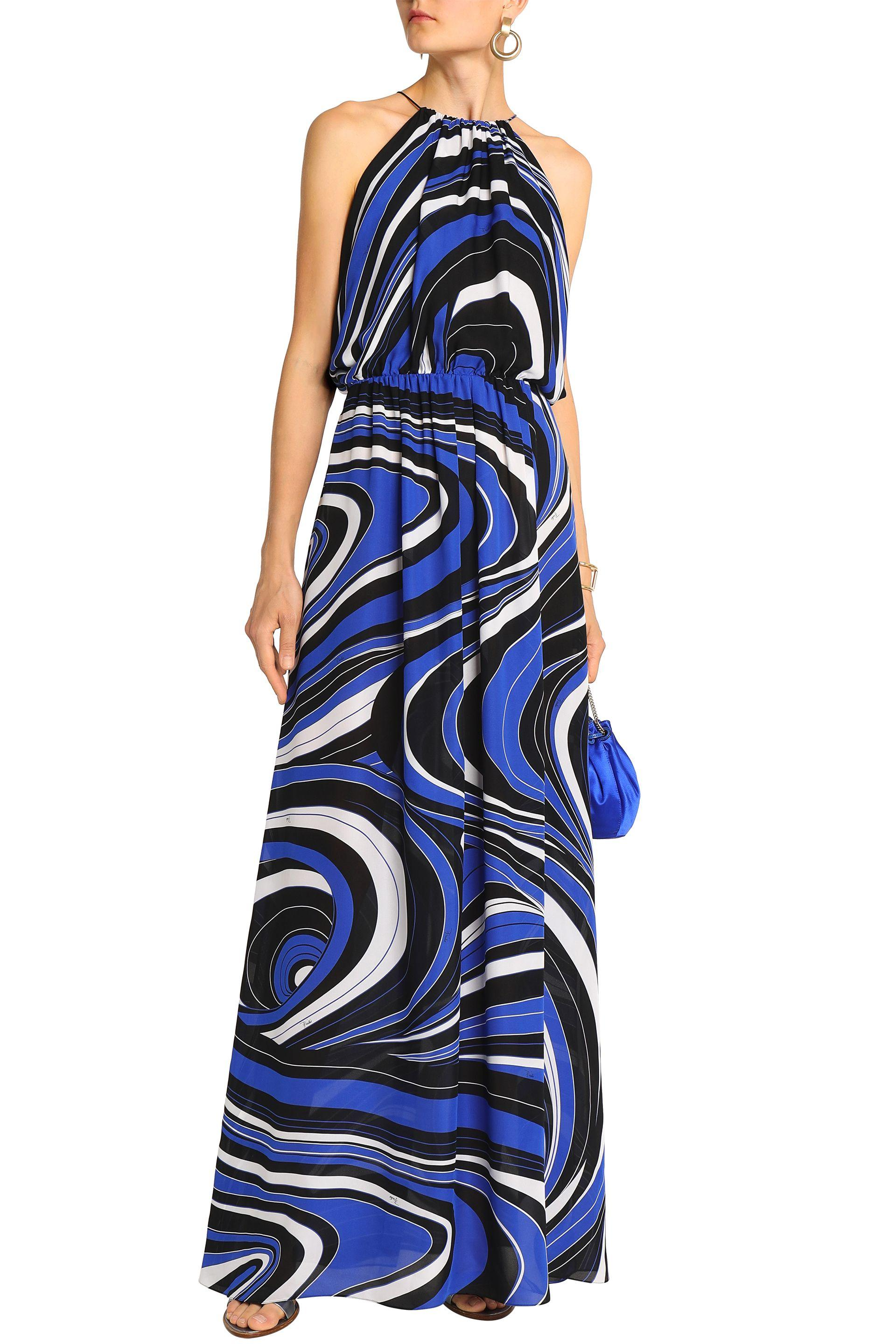 bb7c4d9ae548 Lyst - Emilio Pucci Woman Sequin-embellished Tulle-trimmed Printed ...