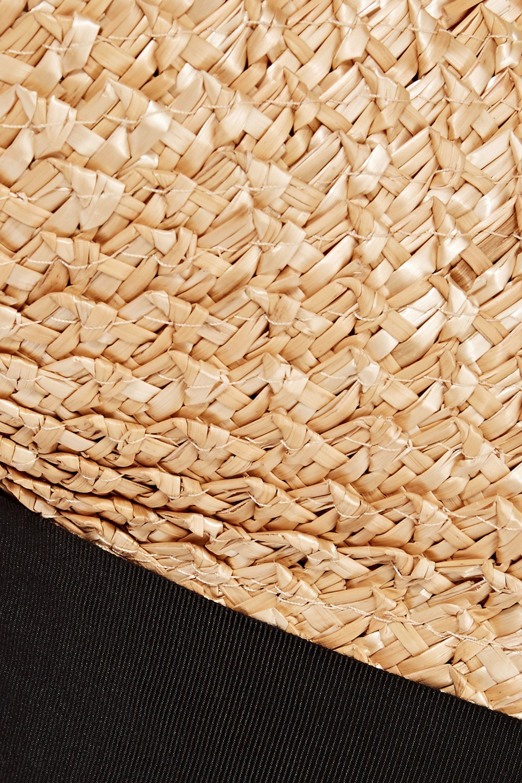 Eugenia Kim Flavia Grosgrain-trimmed Straw Tote in Beige (Natural)