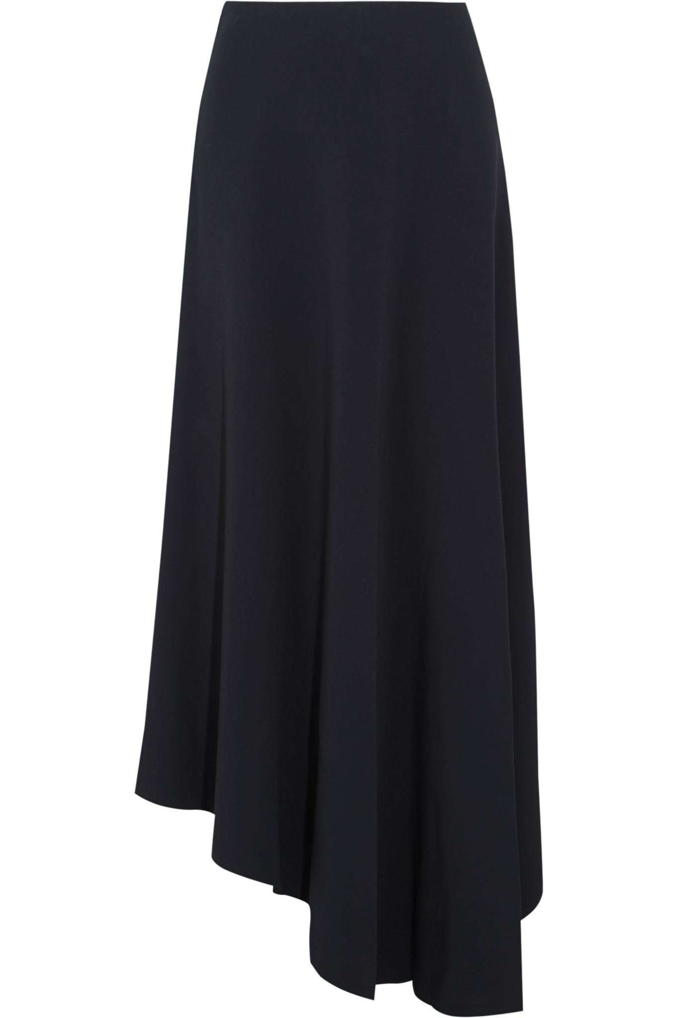 marni asymmetric stretch cady maxi skirt in blue lyst