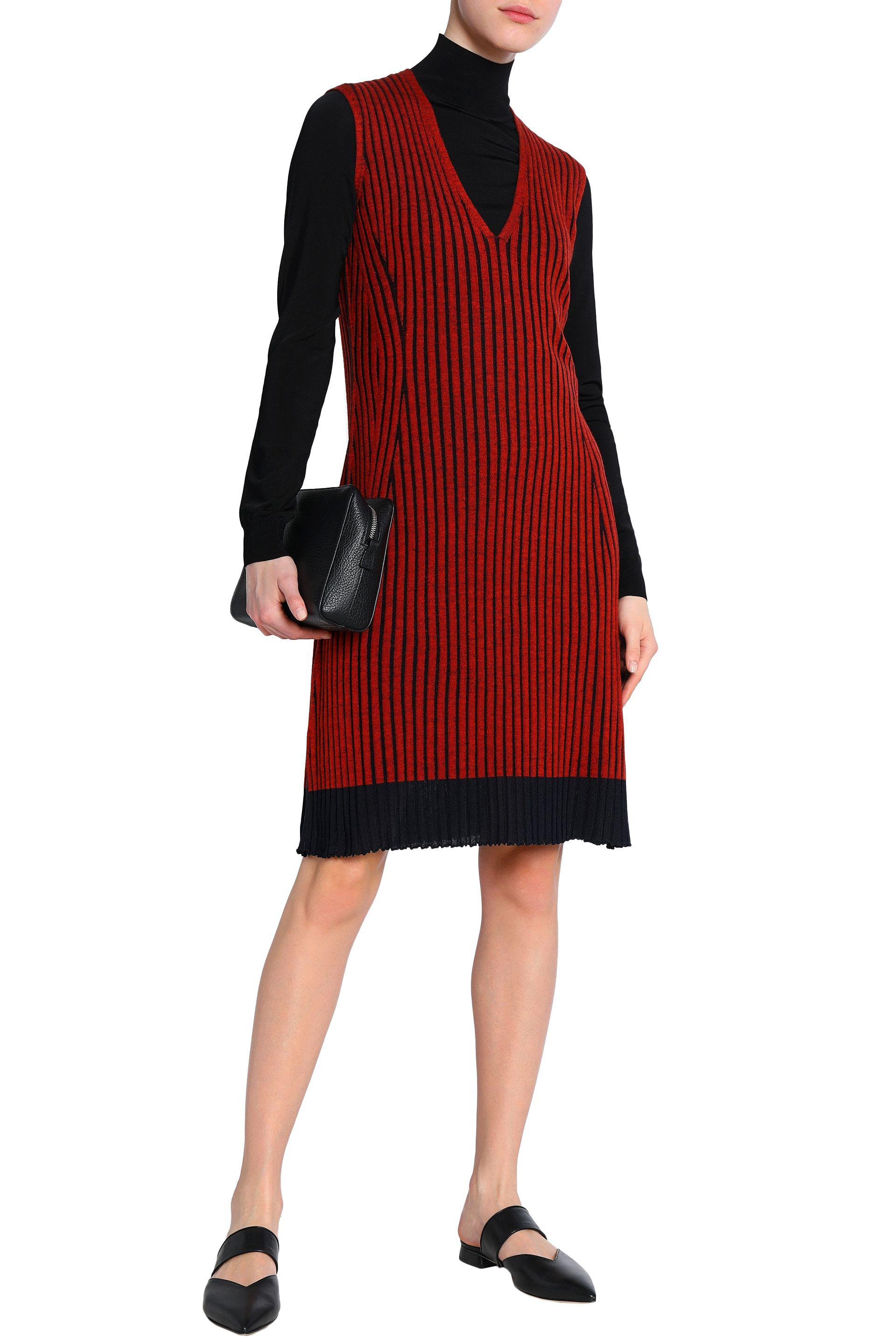 3d88c31a9f pringle-of-scotland-Red-Ribbed-Merino-Wool-And-Silk-blend-Dress.jpeg