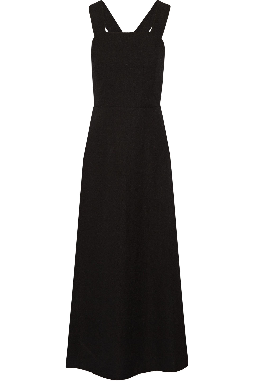Emilia Wickstead. Women's Black Cloqué Dress