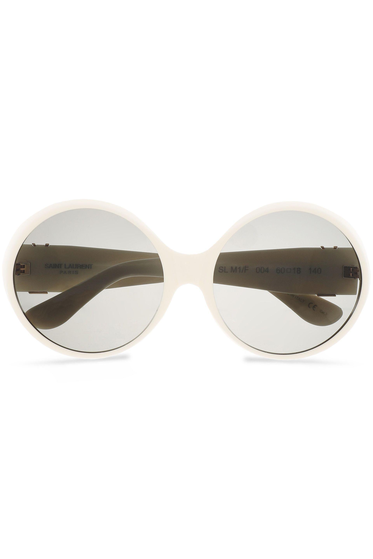 e4d6fb6a4f2a8 Lyst - Jimmy Choo Woman Aviator-style Gold-tone Acetate Sunglasses ...