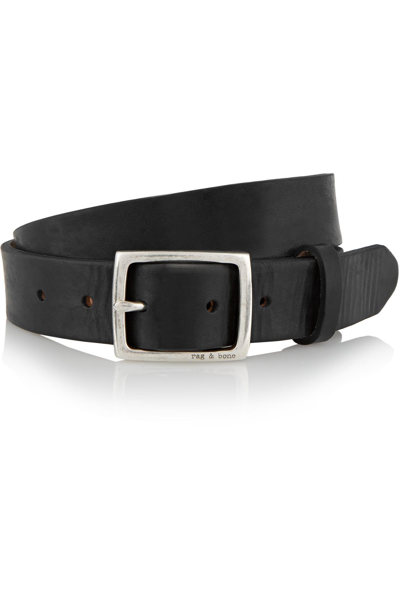 Black Leather Boyfriend Belt Rag & Bone Ew63m3
