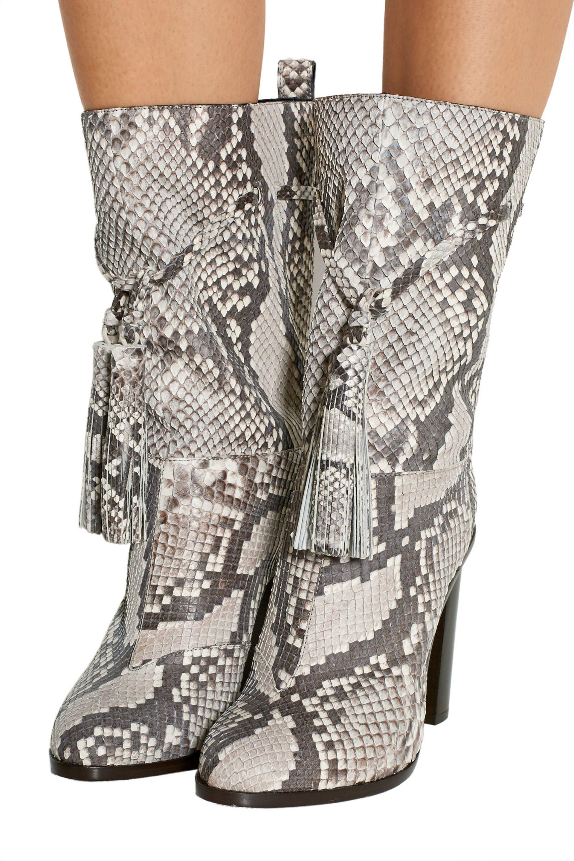 Lanvin Tasseled Python Boots Colorless - No