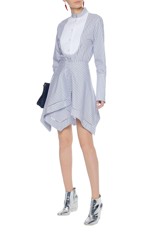 Cheap Exclusive J.w.anderson Woman Asymmetric Layered Striped Cotton Mini Skirt Light Blue Size 12 J.W.Anderson Genuine For Sale Best Wholesale Cheap Online Buy Cheap The Cheapest Cheap Sale Fashionable Vgz4gJb