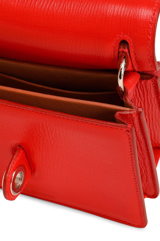 Jil Sander Leather Cross Body in Red