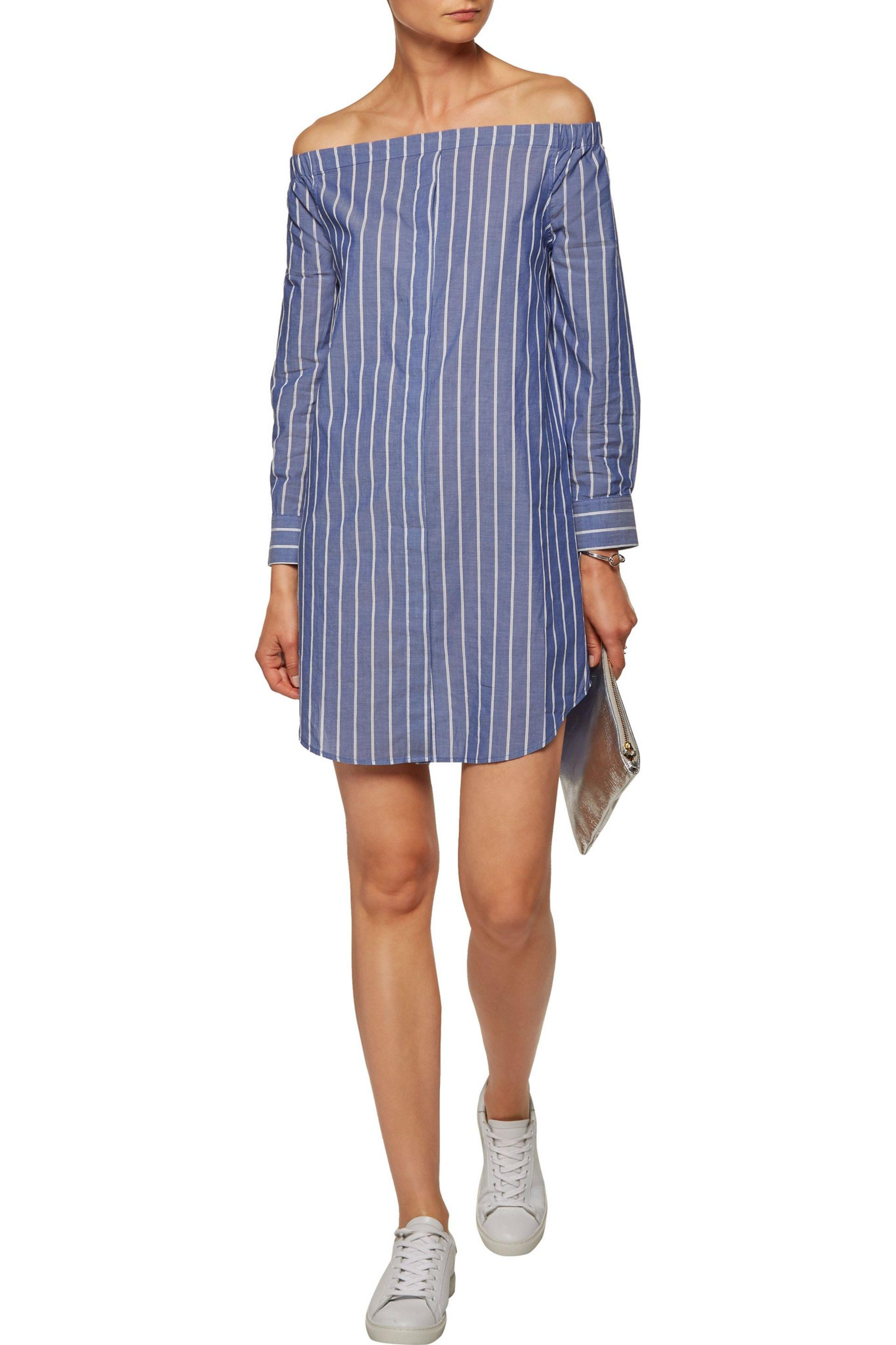Equipment Striped Mini Dress Enjoy Cheap Price Footlocker Cheap Price Buy Cheap High Quality qKtdBaP