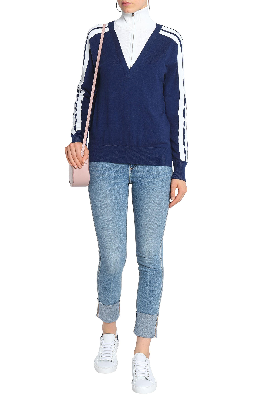 Rag & Bone Cropped High-rise Skinny Jeans Light Denim in Blue